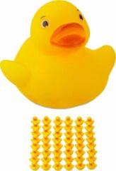 Relaxdays badeendjes geel - 48 stuks - badspeelgoed badeend - speelgoed voor bad - 3.5 cm