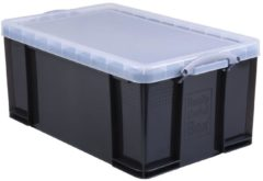 Zwarte Merkloos / Sans marque Really Useful Boxes Opbergdoos Smoke 64 l