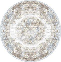 Veercarpets Vloerkleed Viola - Rond - ø160 cm - Taupe - Vintage