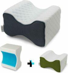Grijze Lifetec Premium® Pro Knee Kniekussen - Orthopedisch Beenkussen – Zijslaapkussen Voor In Bed – Cooling Gel