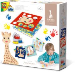 SES Creative Vingerverfkaarten(Sophie la girafe junior 4-delig