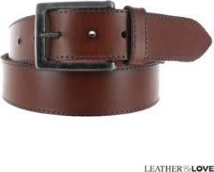Leatherbelove JOB86 JOB86 Unisex Broekriem Bruin 85 cm