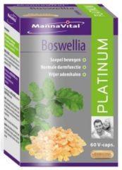 Mannavita Mannavital Platinum Boswellia Vegetarische Capsules Gewrichten/maag-darmstelsel 60capsules