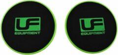 Uf Equipment Buikspiertrainerset 18 Cm Groen/zwart 2 Stuks
