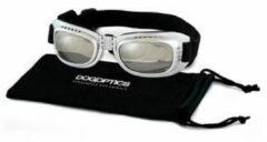 Dogoptics Hondenzonnebril Biker - Silver Frame & Mirror Lens - M