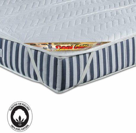 Afbeelding van Witte Cool Cotton Top | Verkoelende MatrasTopper | 100% Puur Katoen | Absorberend, Fris en Koel | Matrasdek | 180x200cm