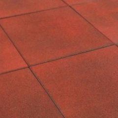 Merkloos / Sans marque Rubbertegel 50x50x2.5cm Rood