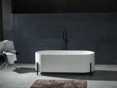 Mawialux vrijstaand bad | Solid surface | 170x70cm | Mat wit | ML-103-VBMG-MW