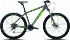 Legnano 27,5 ZOLL LAVAREDO HARDTAIL MOUNTAINBIKE ALUMINIUM 24-GANG MTB Hardtail Herren dunkelgrau-grün-schwarz