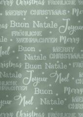 MTis Kerst papier Merry Christmas Grijs- Breedte 50 cm - m lang - Breedte 50 cm - 891959-6-50cm