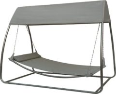 SORARA Outdoor Living SORARA Hangmat / Ligbed met standaard en klamboe - Grijs - 2 persoons