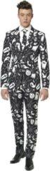 Suitmeister Black Icons - Mannen Zomer Kostuum - Zwart - Halloween - Maat XL