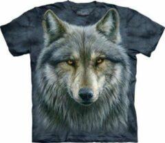 Witte Yogi & Yogini T-Shirt Mountain Artwear Warrior Wolf S