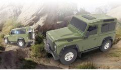 Donkergroene Rastar Jamara 405154 Land Rover Defender 1:24 Rc Auto Elektro Terreinwagen