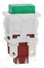 Philips Whirlpool Schalter (mit Lämpchen, grün) für Kühlschrank 481927618261