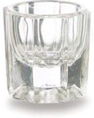 Transparante Merkloos / Sans marque Geurloos acryl vloeistof bestaat niet! Voorkom onnodige geurverspreiding en vloeistof verdamping bij acrylnagels met glazen dappenglaasje, dappendish. Ook geschikt voor nagellak remover, penseel reiniger, desinfectans,