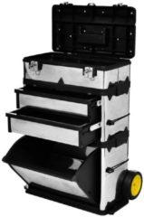 Zwarte VidaXL 3-delige Gereedschapstrolley 140301 - 3-delig - Exclusief gereedschap