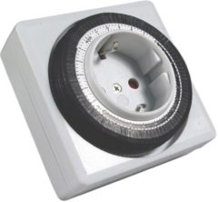 Transparante Calex wandcontactdoos met timer 24H (blister)