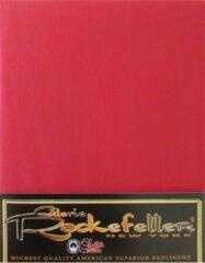 Gloria Rockefeller Hoeslaken Satijn - Tweepersoons - 160x200 cm - Rood