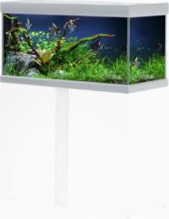 Akvastabil Fusion Aquarium 80 - Aquaria - 80x40x49 cm Zilver Wit Ca. 144 L