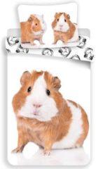 Animal Pictures Cavia Dekbedovertrek - Eenpersoons - 140x200 cm - Wit
