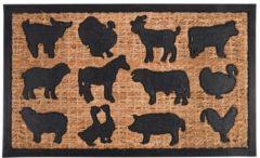 Bruine Esschert design Deurmat boerderij dieren