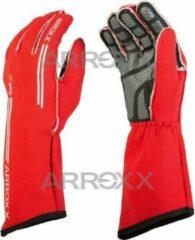 Arrox handschoenen race monokleur rood