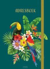 Deltas Adresboek Birds 14,8 X 10,7 Cm Papier/karton Donkergroen