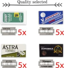 Derby Professional TOP 3 double edge blades Derby Astra Supermax - scheermesjes - safety razor - shavette