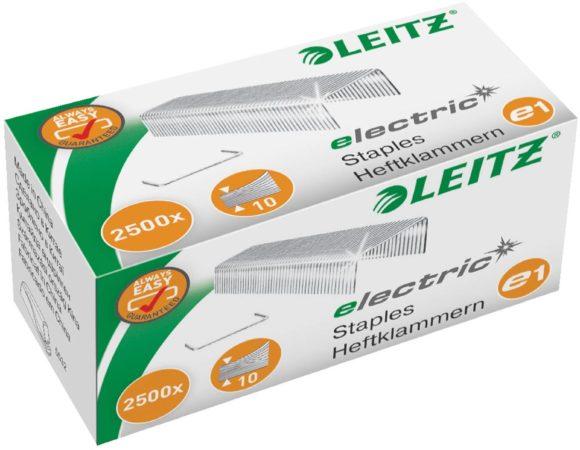 Afbeelding van Leitz Electric e1 5568-00-00 Nietjes 2500 stuk(s) 2.500 stuks/pak Heftcapaciteit: 10 vel (80 g/m²)
