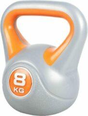 Gorilla Sports Kettlebell 8 kg Kunststof Trendy (Grijs/oranje)