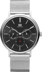Zilveren Danish Design watches edelstalen herenhorloge Hong Kong Day/Date Black Mesh IQ63Q1233