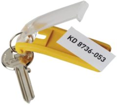 Gele DURABLE Key Clips, kunststof, 70 x 30 x 10 mm, 6/VE
