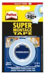 Transparante Pattex Montagetape 80kg dubbelzijdig - Montage tape - 1.5 Meter