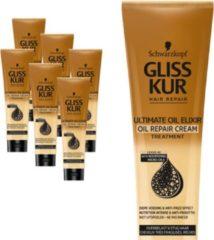 Schwarzkopf Gliss Kur Gliss Kur Ultimate Oil Elixer Haarmasker - 6 x 150 ml - Voordeelverpakking
