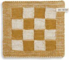 Knit Factory Pannenlap Block - Ecru/Oker