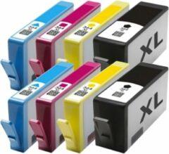 Inkmaster Nu Actie ! Huismerk XXL Cartridge HP 364XL (2 x 4 stuks ) Multipack Hoge capaciteit