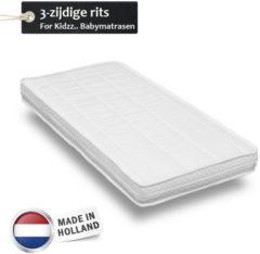Witte For Kidzz.. Babymatrassen For Kidzz..Babymatras 70 x 130 x10cm - polyether - driezijdige rits