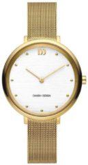 Gouden Danish Design edelstalen dameshorloge Amelia Gold Silver Bark IV05Q1218