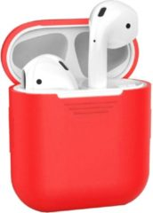 BTH Siliconen Bescherm Hoesje Case Cover voor Apple AirPods 2 Hoes - Rood