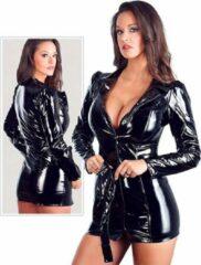 Zwarte Black Level Prachtig Lak jasje / mini jurkje