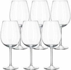 Transparante Royal Leerdam 6x Luxe wijnglazen 330 ml Plaza - 33 cl - Wijn drinken - Wijnglazen van glas