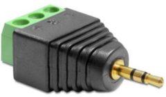 Groene DeLOCK 65420 2.5mm 3p Zwart, Groen kabeladapter/verloopstukje