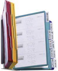 Durable Wandhouder voor bureaustandaard VARIO WALL 20 - 5512 Blauw, Geel, Groen, Rood DIN A4 Aantal meegeleverde displaypanels 20