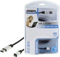 König USB 2.0 1.8m USB A Micro-USB A Mannelijk Mannelijk Zwart USB-kabel
