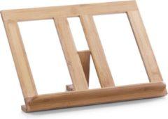 Merkloos / Sans marque Bamboe houten kookboekstandaard/houder bruin 35 cm - Zeller - Keukenbenodigdheden - Kookbenodigdheden - Keukengadgets - Standaards voor kookboeken