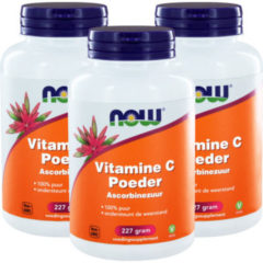 Now Foods Now Vitamine C Poeder Ascorbinezuur Trio (3x 227g)