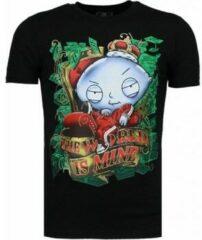 Zwarte T-shirt Korte Mouw Mascherano Rich Stewie - T-shirt