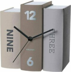 Naturelkleurige Karlsson Table Clock Book - Basics Paper - 20x15x20cm