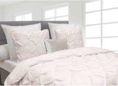Witte Heckettlane Dekbedovertrek Cromer - Licht Roze - 1-persoons (140 x 220 cm + 1 kussensloop) - Katoensatijn - Roze - Heckett Lane